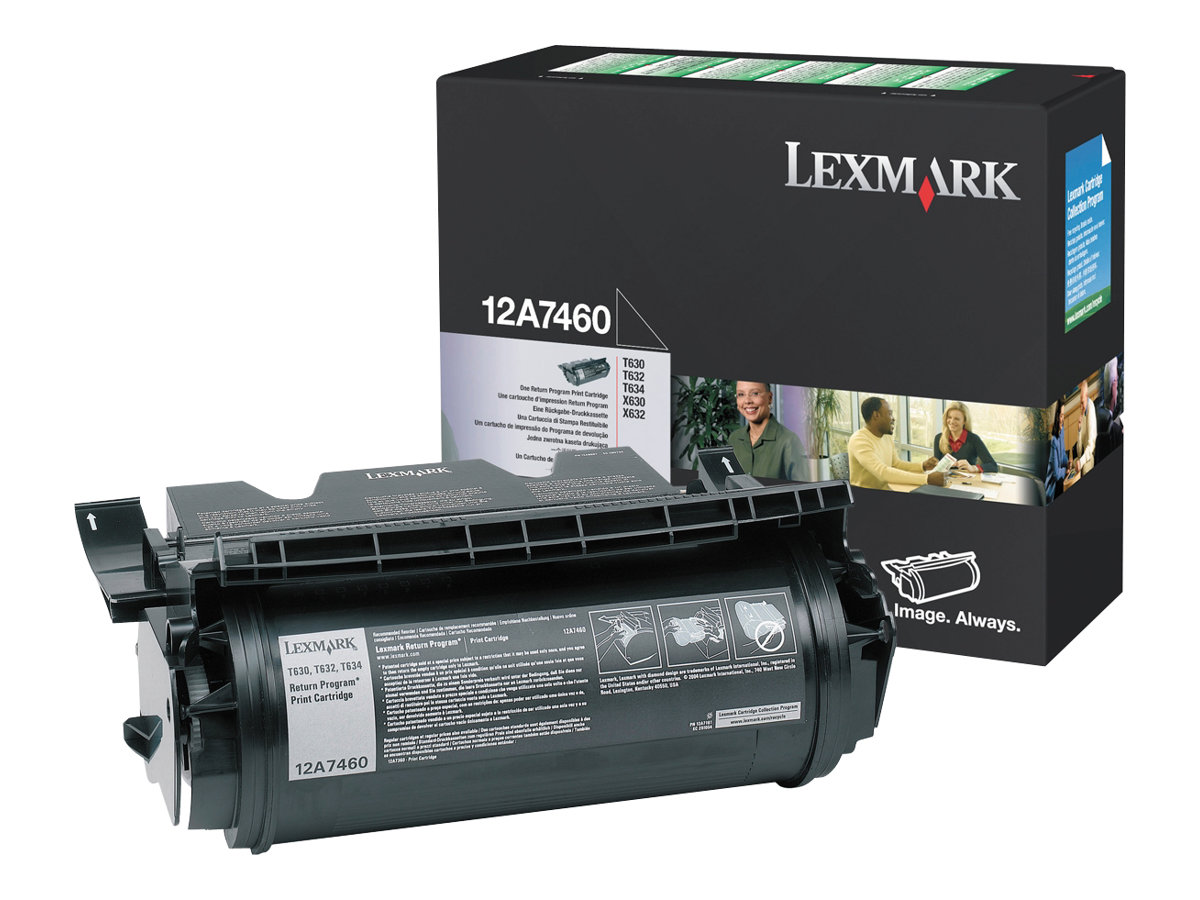 Lexmark - Noir - 12A7460 - 5000 pages - original - cartouche de toner