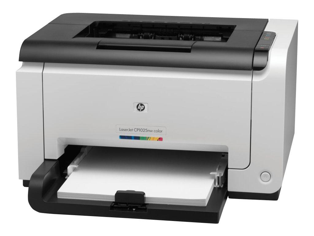Hp color laserjet pro cp1025nw imprimante couleur laser imprimantes laser neuves - Imprimante bureau vallee ...