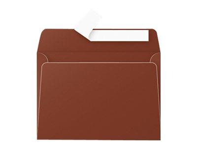 Pollen - Enveloppe - carré - 114 x 162 mm - avec bande (auto-adhésif) - chocolat - pack de 20