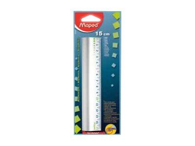 Maped - Règle - 15 cm - aluminium - spécial trousse