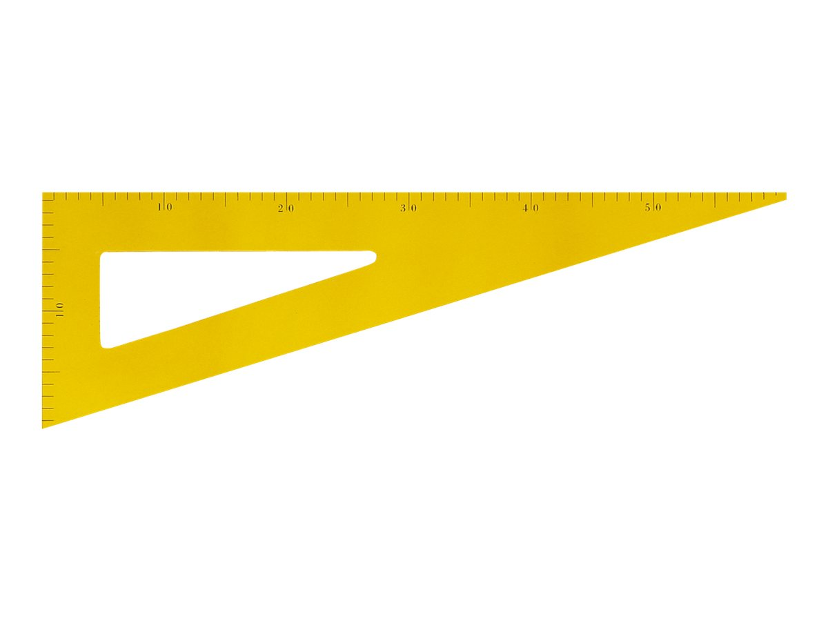 JPC - Équerre - 60 cm - 30°, 60° - jaune - bois