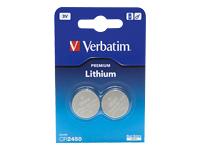 Verbatim Batteri 2 x CR2450 Li