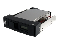 StarTech.com 5.25in Trayless Hot Swap Mobile Rack for 3.5in SATA HDD with LCD & Fan