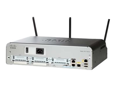 Image of Cisco 1941 - wireless router - 802.11a/b/g/n (draft 2.0) - desktop, rack-mountable