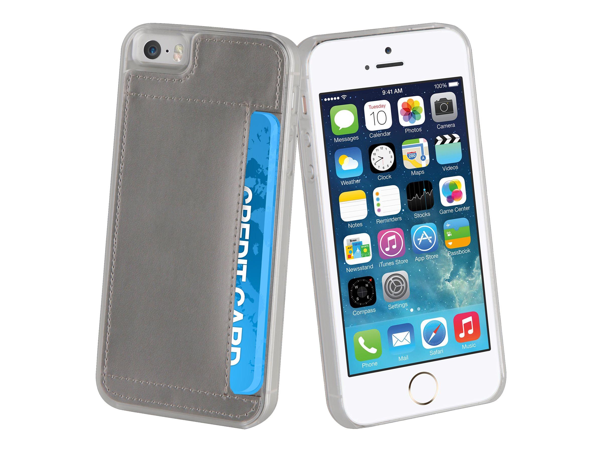 Muvit Crystal Case - Coque de protection pour iPhone 5, 5s, SE - argenté