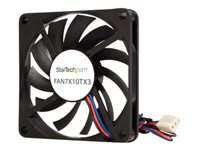 StarTech.com Replacement 70mm TX3 Dual Ball Bearing CPU Cooler Fan - 3 pin case Fan - TX3 Fan