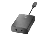 HP - Power adapter - USB Type C (M) to DC jack 3.0 mm, DC jack 4.5 mm (F) - 6.3 in - United States - for EliteBook
