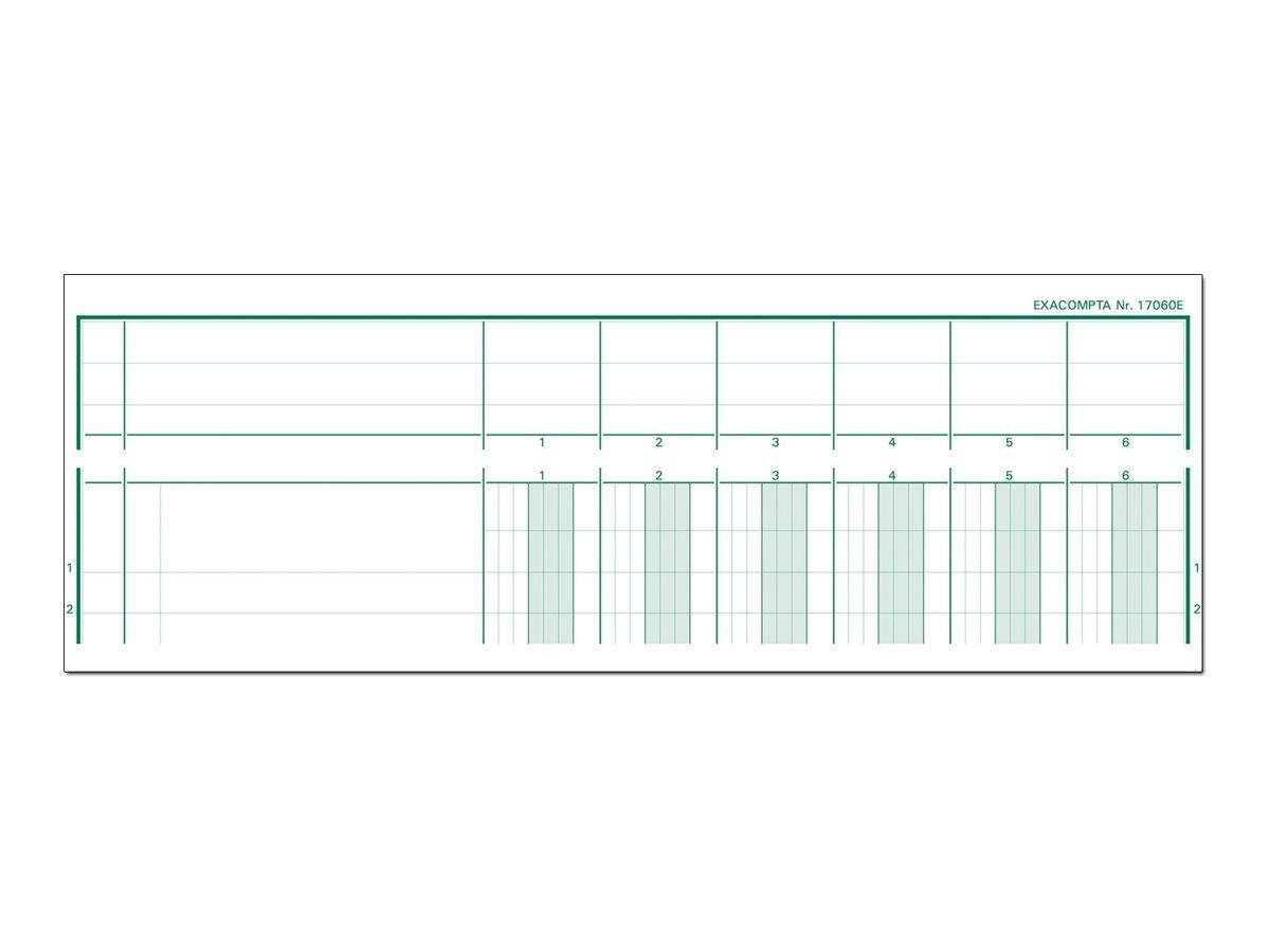 Exacompta - Piqûre comptable à tête paresseuse - 6 colonnes - A4 - portrait