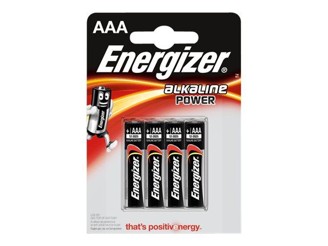 Energizer Alkaline Power batterie - type AAA - Alcaline x 4