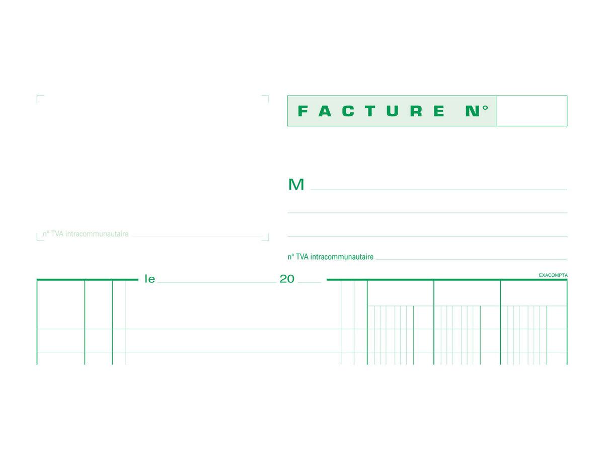 Exacompta - Manifold de factures - A4 - en double
