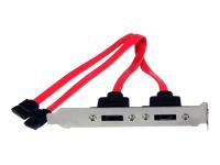 StarTech.com Support 2 SATA vers 2 Ports eSATA - Plaque d'Adaptation