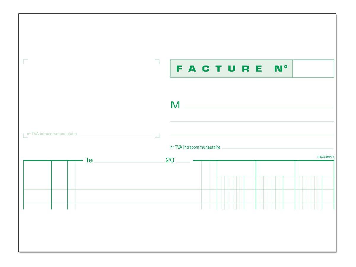 Exacompta - Manifold de factures TVA - A4 - en double