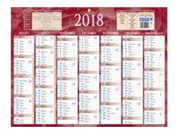 CBG rouge 222 - Calendrier 2017 - 7 mois par face - 320 x 420 mm
