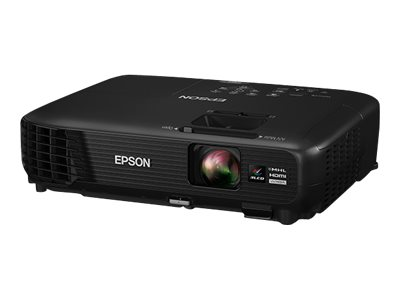 Epson PowerLite 1264 - 3LCD projector - portable - 3200 lumens (white) - 3200 lumens (color) - WXGA (1280 x 800) - 16:10 - HD 720p with 2 years Epson Road Service Program