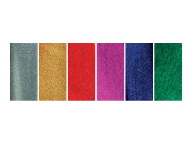 Clairefontaine - Papier métallisé - Rouleau (50 cm x 2,5 m) - blanc, disponible dans différentes couleurs