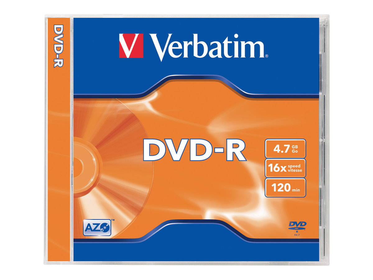 Verbatim - DVD-R x 5 - 4.7 Go - support de stockage