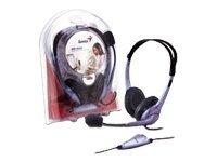 Genius Audifono con microfono HS-04S con cancelacion ruido
