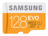 SAMSUNG, Micro SD Card EVO 128GB w/Adapter