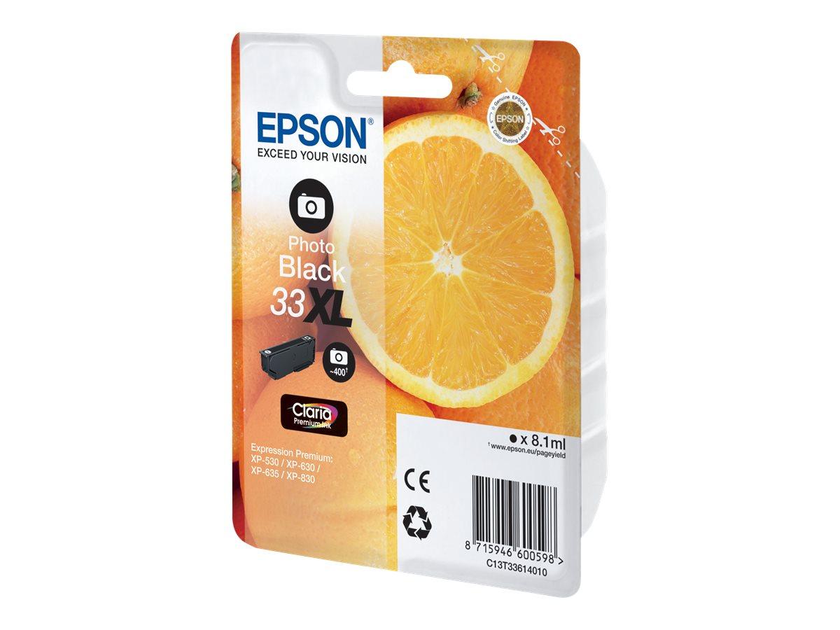 Epson 33 - haute capacité - photo noire - originale - cartouche d'encre