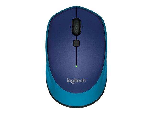 Logitech M335 - souris - 2.4 GHz - bleu
