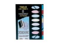 ELBA memphis - Parapheur - 8 pochettes - A4 - noir