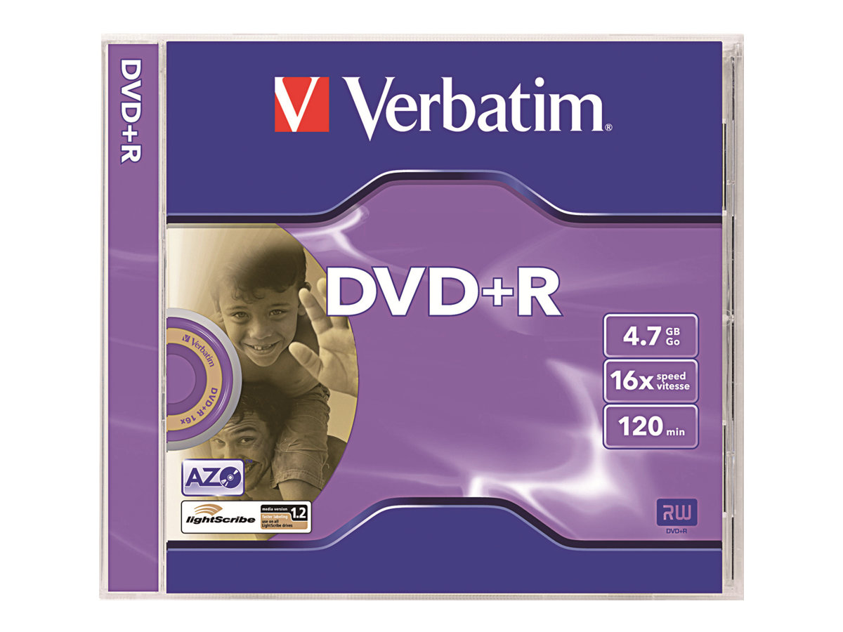 Verbatim DataLifePlus - DVD+R x 5 - 4.7 Go - support de stockage