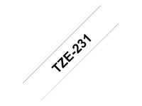 Brother TZe231 Klæbemiddel sort på hvid