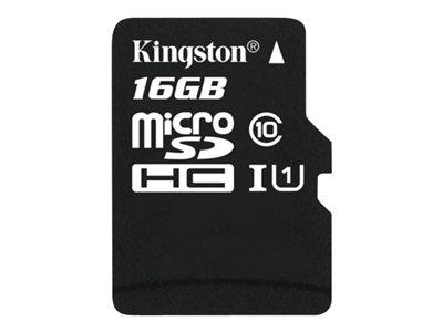 Kingston - tarjeta de memoria flash - 16 GB - microSDHC