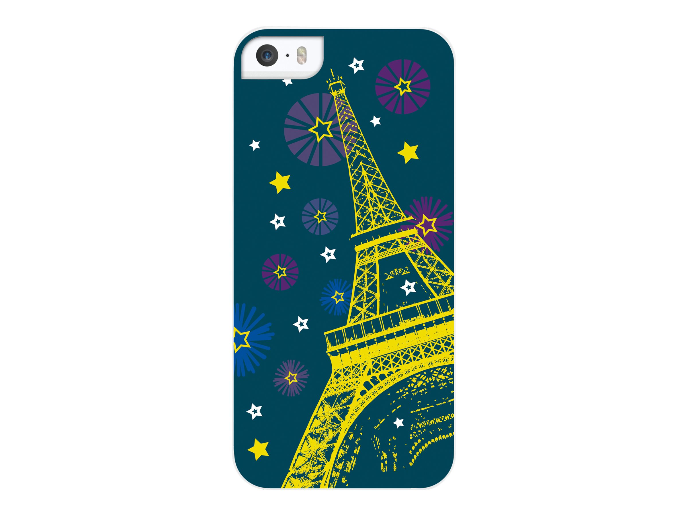 Muvit Customline Géométrique - Paris Eiffel Fireworks coque de protection pour téléphone portable