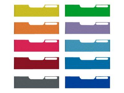 Exacompta MODULO Classic mini - 10 Panneau avant d'armoire à tiroir - A4 - couleurs assorties