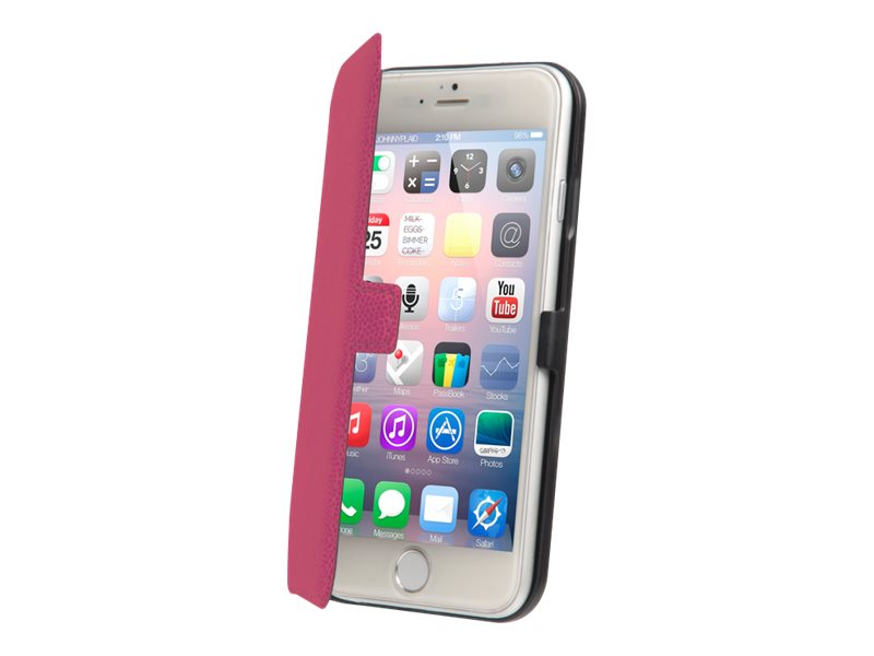 Muvit Made in Paris Slim Folio - Protection à rabat pour iPhone 6 - rose