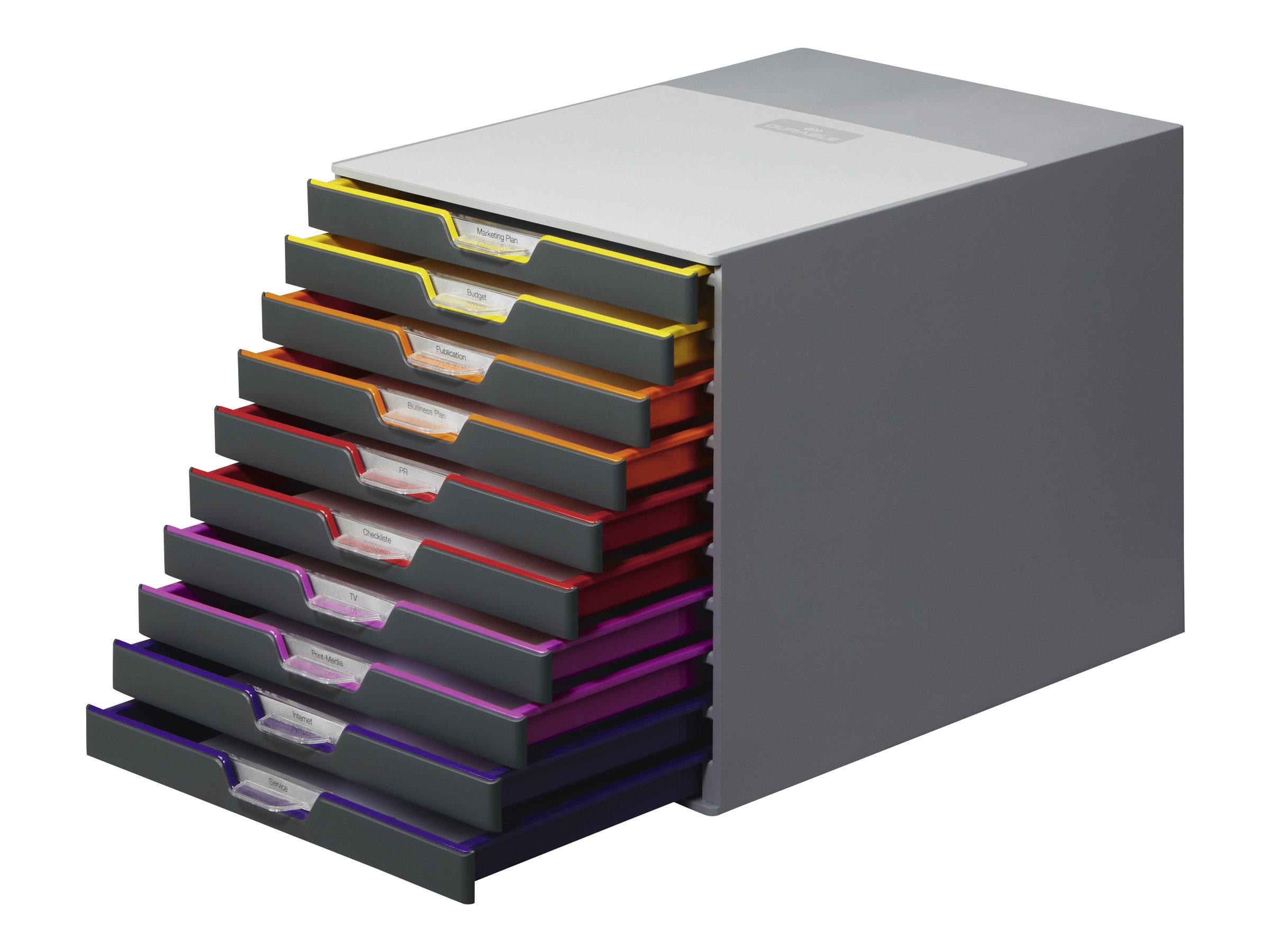 DURABLE VARICOLOR 10 - bloc de classement à tiroirs