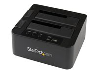 """StarTech.com Dual Bay USB 3.0/ eSATA Hard Drive Duplicator Dock for 2.5"""" & 3.5"""" SATA SSD HDD with UASP (6Gbps) - Standalone Docking Station (SDOCK2U33RE) - Storage controller with power indicator"""