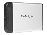 StarTech.com 2.5in Silver USB 2.0 to IDE External Hard Drive Enclosure