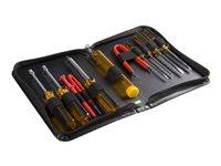 StarTech.com Juego Kit Set de Reparación Herramientas Ordenadores PC 11 piezas con Estuche - Torx Phillips Plano - Extractor de Chips