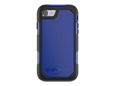 Griffin Survivor Summit - Protective case for cell phone - rugged - silicone, polycarbonate, thermoplastic elastomer (TPE) - black/blue - for Apple iPhone 7