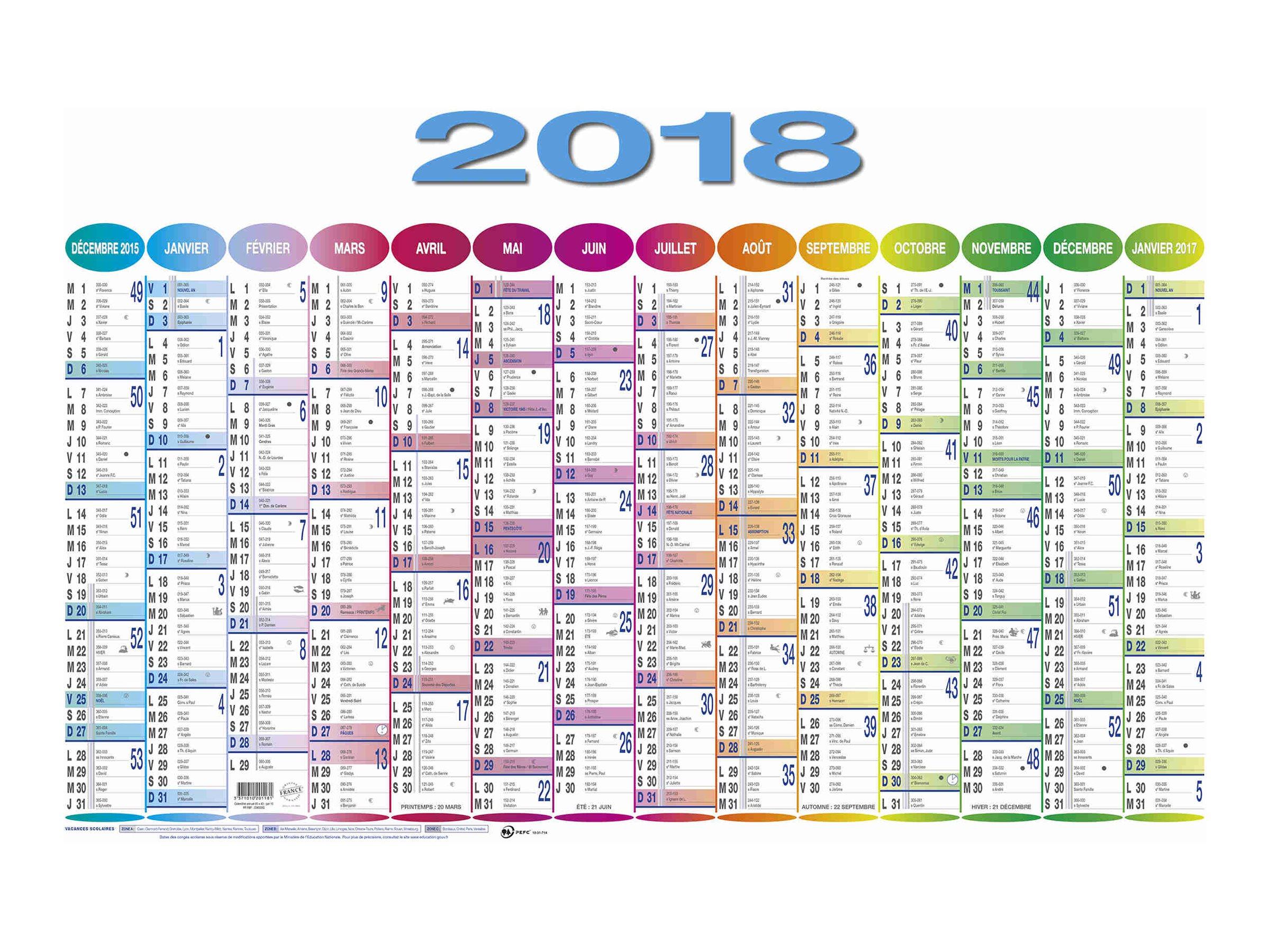 Quo Vadis - calendrier annuel