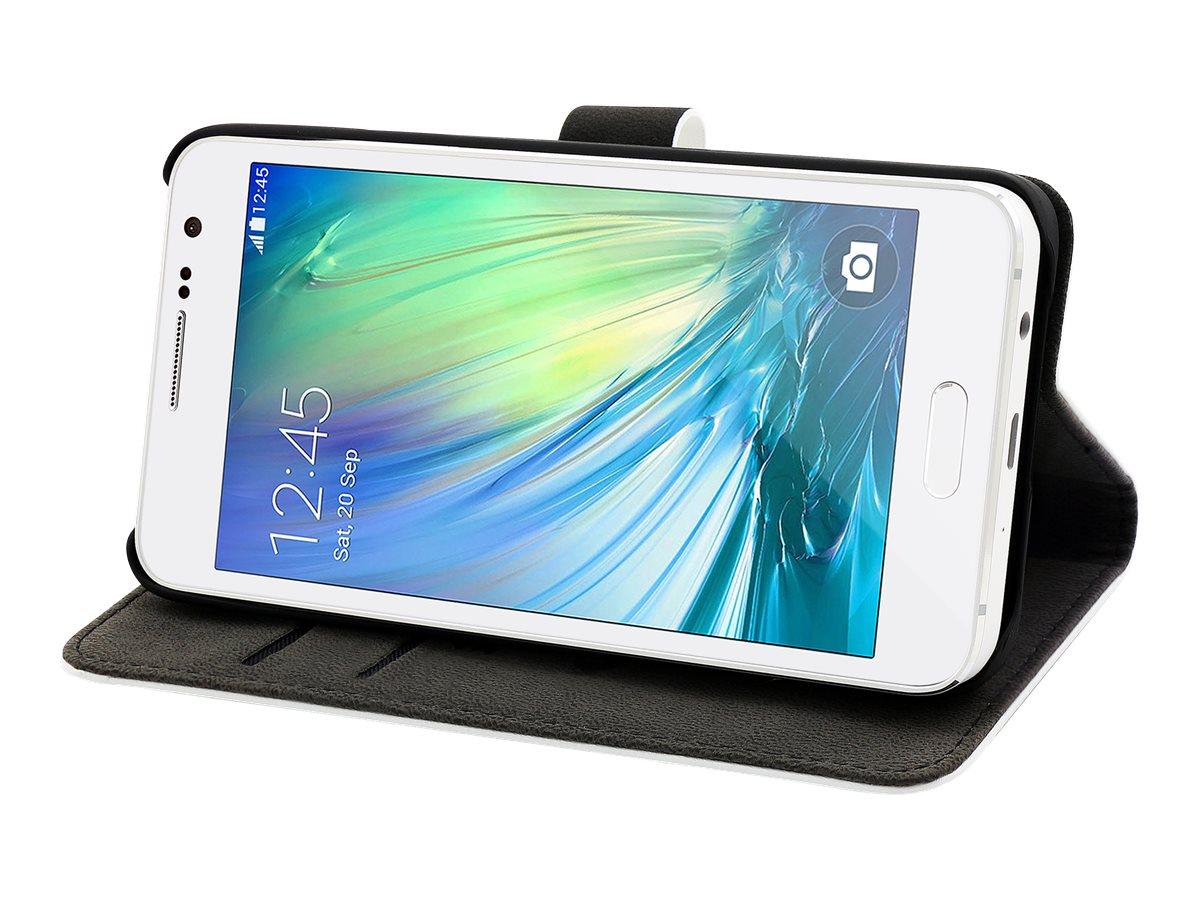 Muvit Slim Folio - Protection à rabat pour Samsung GALAXY A3 - blanc