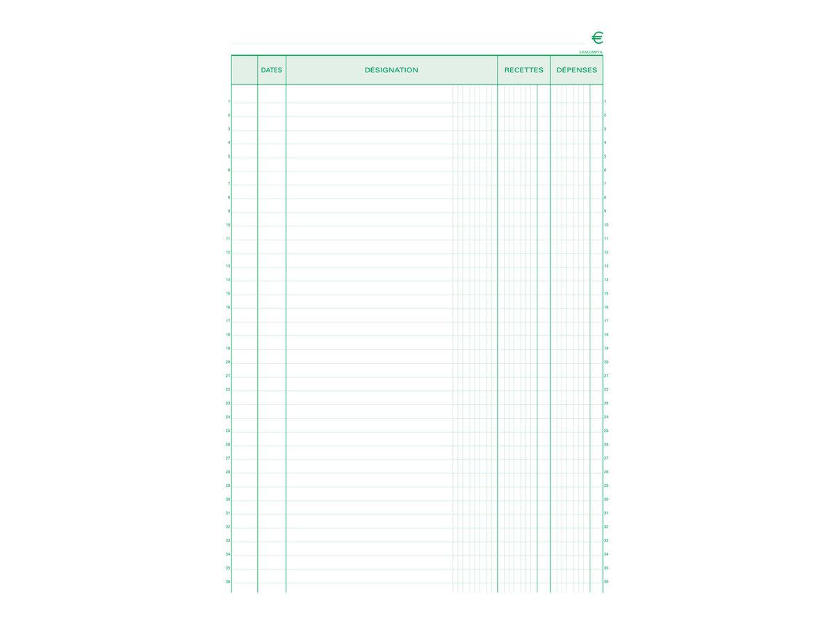 Exacompta - Carnet de reçus - recettes/dépenses - en double