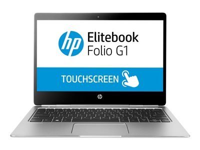 "HP EliteBook Folio G1 - Core m7 6Y75 / 1.2 GHz - Win 10 Pro 64-bit - 8 GB RAM - 512 GB SSD - 12.5"" touchscreen 1920 x 1080 (Full HD) - HD Graphics 515 - Wi-Fi, Bluetooth - kbd: US - with 3 Years HP Care Pack Pick-Up and Return Service for Travelers"