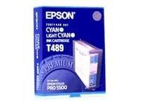 Epson T489 - cyan, cyan clair - originale - cartouche d'encre
