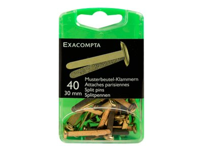 Exacompta - 40 Attaches parisiennes - 30 mm - or