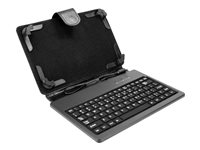 Xtech XTF-100 - Keyboard and folio case - up to 8""