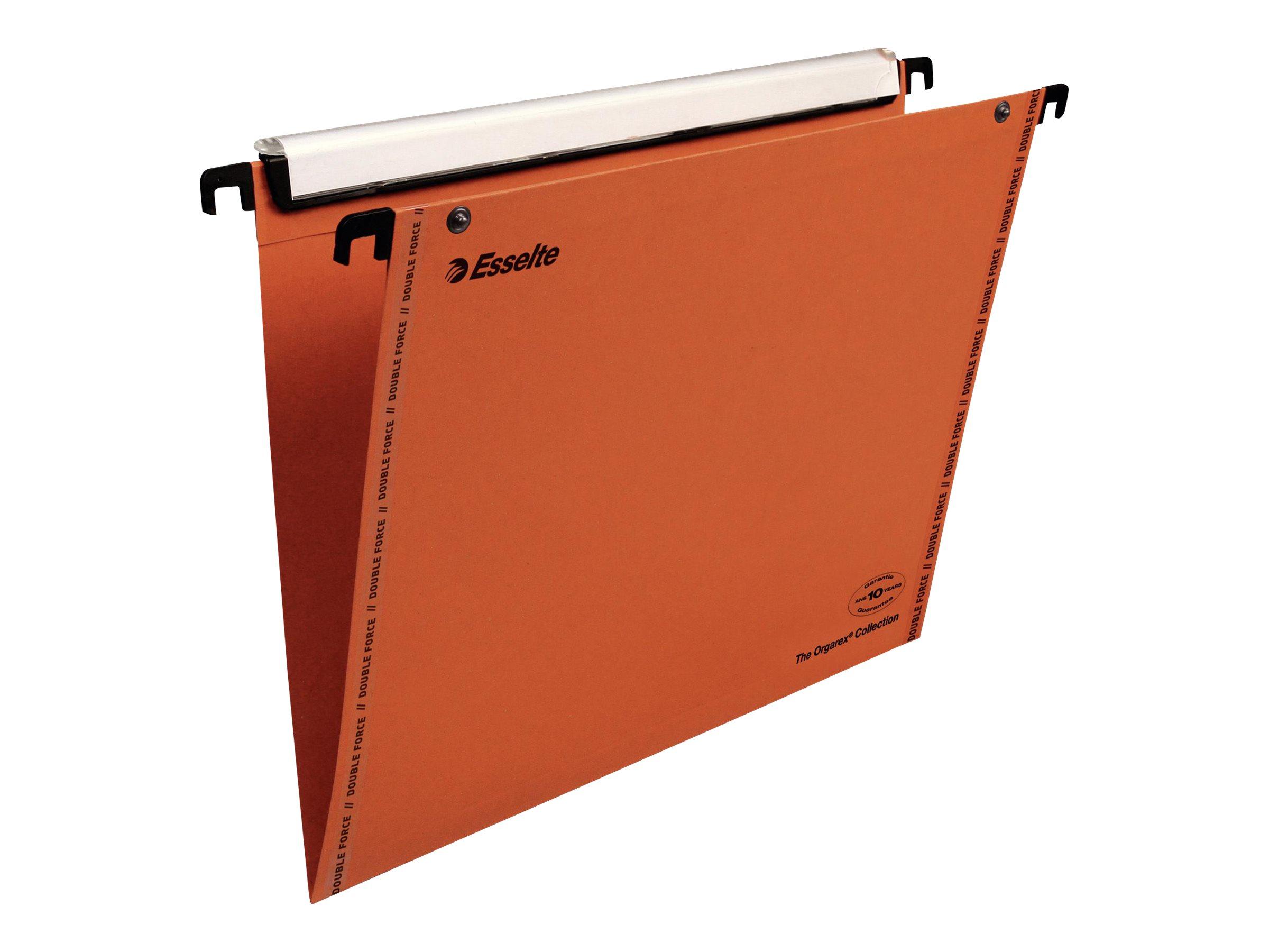 Esselte Orgarex VisioPlus - 10 Dossiers suspendus pour tiroirs - A4 - Différents coloris et dimensions de fond