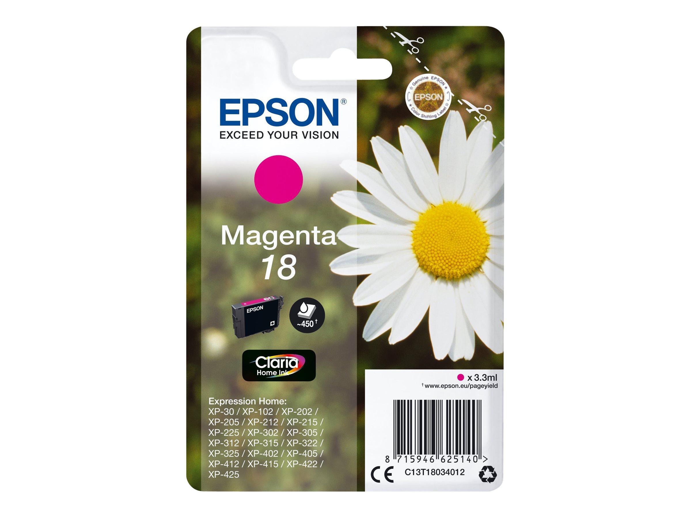 Epson T1803 - pâquerette - magenta - originale - cartouche d'encre