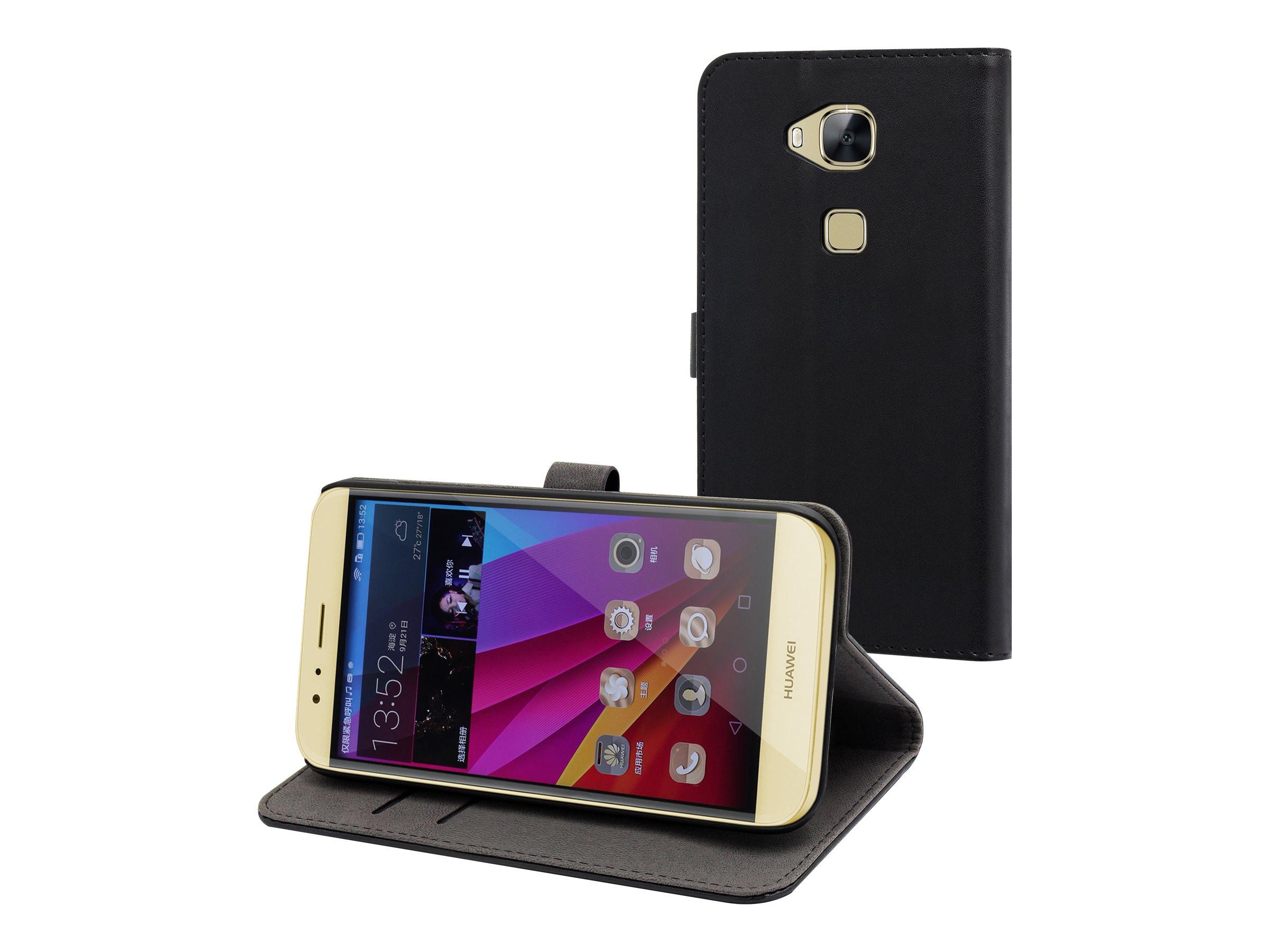 Muvit - Protection à rabat pour Huawei G8 - noir