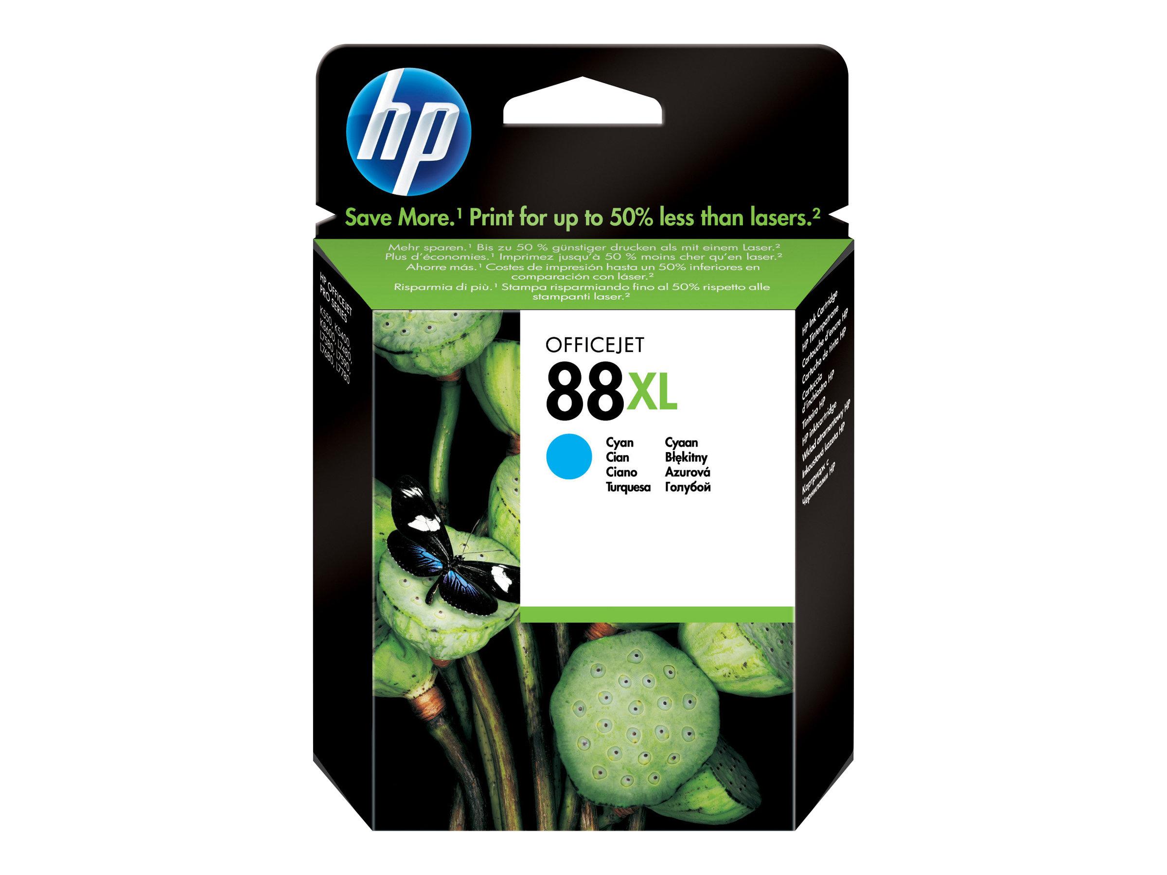 HP 88XL - à rendement élevé - cyan - originale - cartouche d'encre