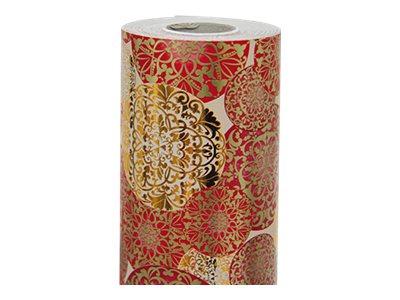 Clairefontaine Premium Red & Golden Bolls - papier cadeau - 1 rouleau(x)