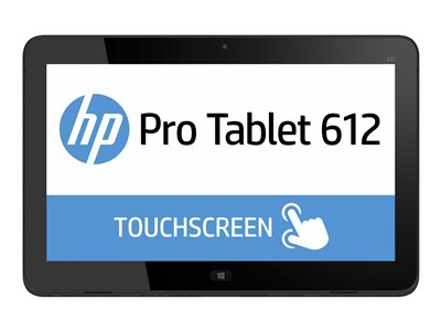 "HP Pro x2 612 G1 - Tablet - with keyboard dock - Core i3 4012Y / 1.5 GHz - Win 10 Pro 64-bit - 4 GB RAM - 128 GB SSD - 12.5"" IPS touchscreen 1920 x 1080 (Full HD) - HD Graphics 4200 - Wi-Fi - with HP Pro x2 612 G1 BL Power Keyboard"