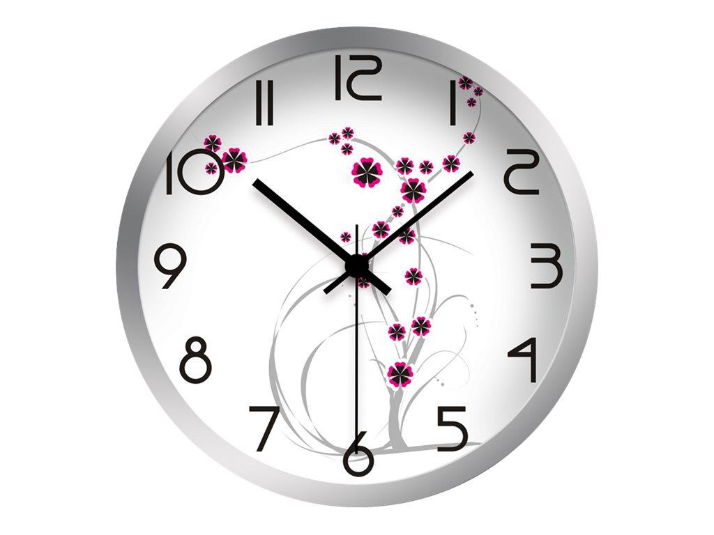OfficePro Petites fleurs - horloge